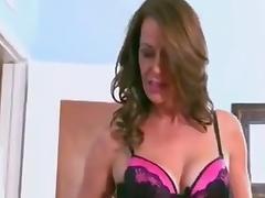 Mature cougar milf sucking fucking big black cock