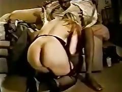 Blonde milf sucking and fucking black cock