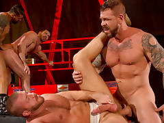 Hunter Marx & Boomer Banks & Billy Santoro & Rocco Steele in Clusterfuck! 2 Video