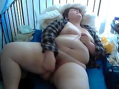 BBW Masturbating