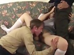 Son, Anal, Brunette, College, Fucking, Skinny