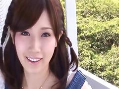 Hard finger blasting makes the Japanese girl squirt