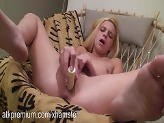 Destiny fingers her tight pussy and toys her clit