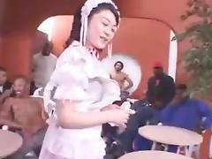 Japanese girl creampie cum mixer PARTY