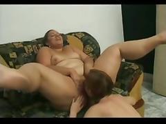 2 Horny Fat BBW Latina Lesbians love to suck pussy juice-1