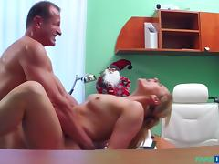 Brittany in Doctor Santa cums twice this year - FakeHospital
