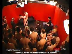 Backstage, Backstage, Banging, Cum, Gangbang, German