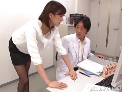 Asian doctor jerked off by his hot Japanese patient