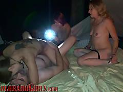 3 Horny Bisexual MILFS Take Turns Fucking Fat Mature Cock