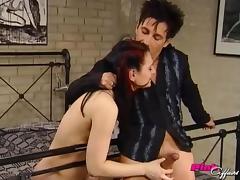 Hottie caught masturbating takes his dick in her asshole