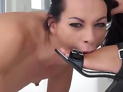 Submissive Babe - Double Fist - Nylon Foot Fist