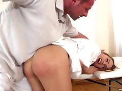 Pretty Leyla Black gets spanked and bonked just how she deserves it
