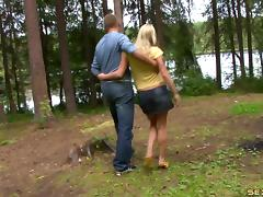 Forest sex with a teen doll being screwed doggystyle hardcore POV