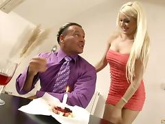 Hot mom dressed up in super slutty lingerie to fuck a dude