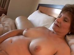 Well aged shaved pussy swallows his dick in a hotel room