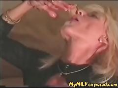 My MILF exposd Cuckold mature wife and BBC bull in stockings
