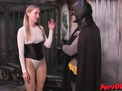 Riley Reyes + Lance Hart make silly ass porn BATMAN FEMDOM