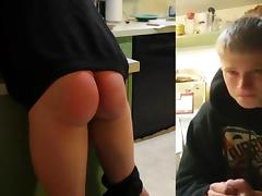 Blonde Boi Spanked SO Hard.