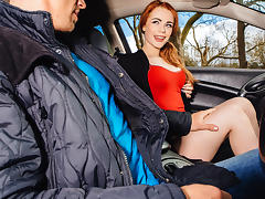 Ella Hughes in British Redhead Sucks Cock - StrandedTeens