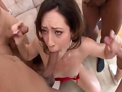 Amazing pornstar Sarah Shevon in horny facial, group sex adult video