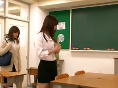 Horny Asian girl Seduces Teacher Lesbian