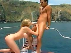 Giant Tit Blond Fucking on a Boat