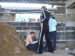 Irina and Tamara feel like having some fun with their slave today