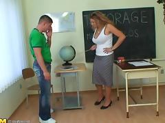 Marja is ready to ride that stiff cock right there in the classroom