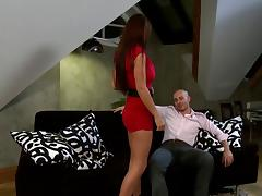 Young brunette ho Roxy likes cum between her tits