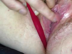 Hairy bbw big clit slimy pussy play pov