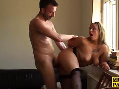 Facefucked british sub doggystyled harshly