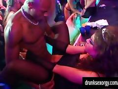 Superb club pornstars fucking in public