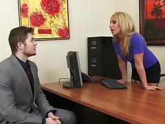 Sexy MILF Boss Stevie Lix Seduces Young Employee
