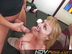 Blonde Big Tit Deep Throat Fucking Adrianna Nicole