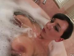Saucy babe with monster tits Alia Janine gets fucked hard