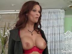 Big boobed MILF enjoys a fat dick