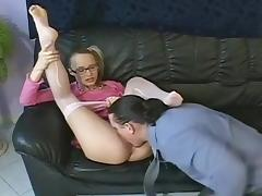Attila Lifts Reka's Short Skirt And Pleases Her