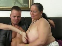 XXX Omas - FFM threesome features hot mature German newbies