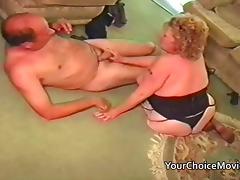 Mature older couple make a homemade sex film