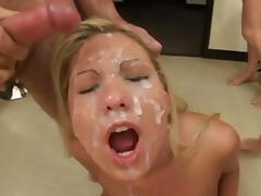 Blonde Pornstar Loves Facials