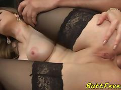 Bigtit euro babe assfucked and gives bj