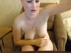 Missslady fucks herself in front of webcam and moans