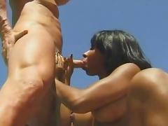 Incredible pornstar Liliane Tiger in horny blowjob, interracial xxx movie