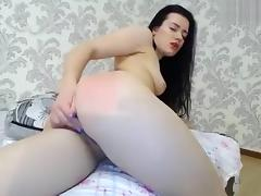 Russian, Brunette, Fucking, Pussy, Russian, Toys