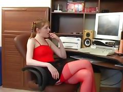 Russian girl masturbates. (jersey).