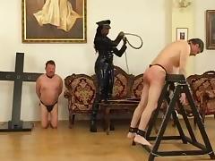 Ebony dom bullwhip slave
