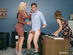 Threesome, Ffm, Hairy, Hardcore, Office, Penis