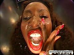 Ebony Beauty get her pussy fucked hard - German Goo Girls