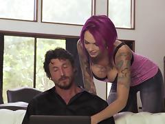 Ana Bell is a flamboyant babe whose cock riding skills are awesome!