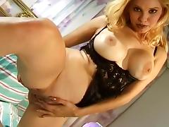 Big Tits, Big Tits, Blonde, Fingering, Lingerie, Masturbation